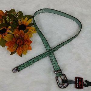 ROPER Womens Diamond Leather belt NEW Sz M